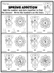 Spring Math Review Worksheets for Numbers 1 - 20