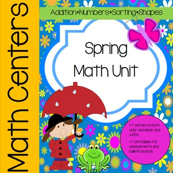 Kindergarten Spring Math Activities and Lessons aligned to