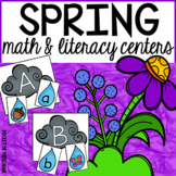 Spring Math and Literacy Centers for Preschool, Pre-K, and