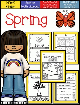 Spring Math and Literacy for Pre-K and Kindergarten