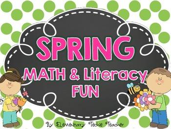 Spring Math and literacy fun sheets