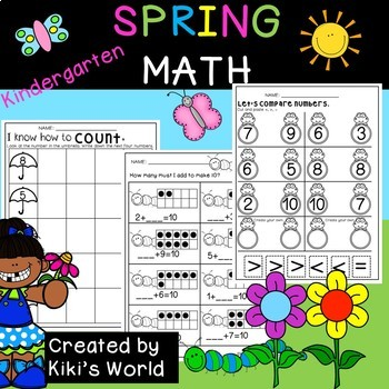 Spring Math worksheets Kindergarten