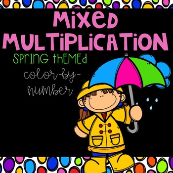 Spring Mixed Multiplication Color-By-Number