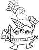 Spring Monster Clipart