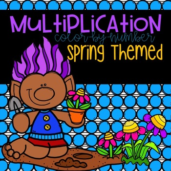 Spring Multiplication Color-By-Number 2-12