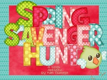 Spring Multiplication Scavenger Hunt - 4.NBT.5