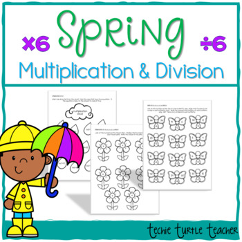 Spring Multiplication and Division Practice - 6s Facts