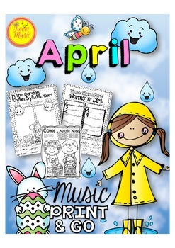 April Music Print and Go {Easter and Earth Day Included}