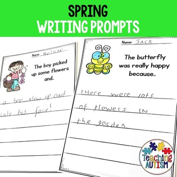Spring No Prep Writing Prompt Worksheets