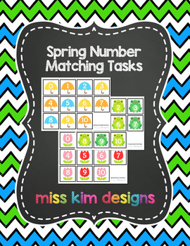 Spring Number Matching Folder Games for students with Autism
