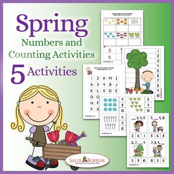 Numbers 1-10 - Spring for Kindergarten