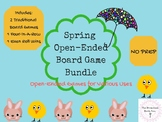 Spring Open-Ended Board Game Bundle Speech Teletherapy Digital