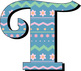 "Spring Patterns Alphabet - Caps and Numbers - 300 DPI - 5"" High"