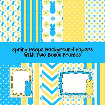 Spring Peeps Background Papers with Bonus Frames