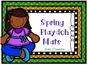 Spring Playdoh mats: Sets to 20 & Spring words