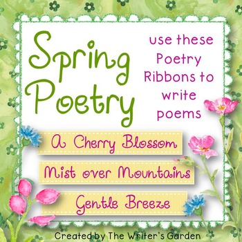 Spring Poetry: 36 Poetry Prompt Ribbons