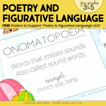 Poetry and Figurative Language Posters