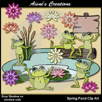 Spring Pond Clip Art