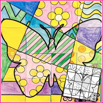 Spring Activity - Classroom Collaboration Butterfly Poster