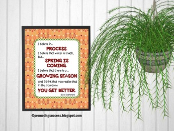 Inspirational Spring Quote Poster for Classroom Decor ~ Te