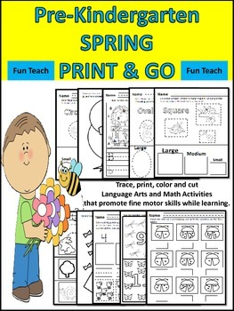 Spring Print and Go Literacy, Math and Art Pack