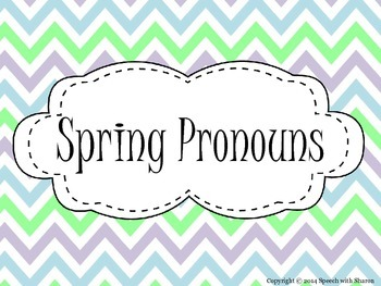 Spring Pronouns {Subjective, Objective, and Possessive}