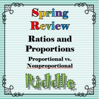 Spring Proportion vs. Nonproportion Riddle Review Activity