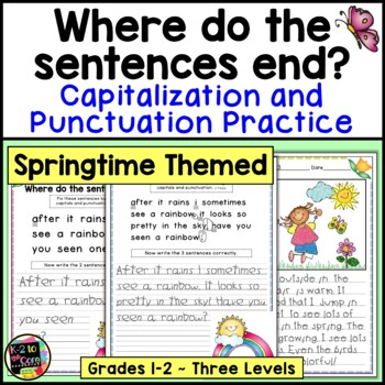 Spring Punctuation and Capitalization; Where do the senten