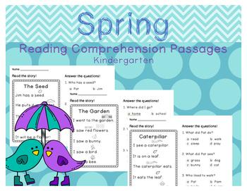 Spring Reading Comprehension Passages Kindergarten