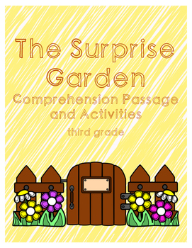 Spring Reading Comprehension Third Grade - The Surprise Garden