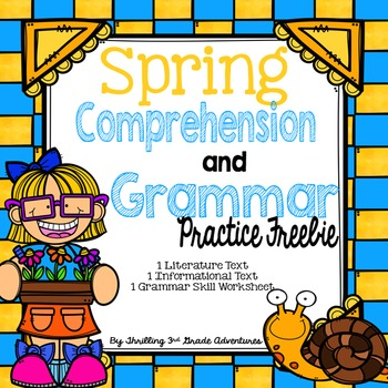 Spring Reading Comprehension-Freebie!