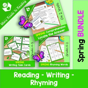 Spring Reading, Writing, Rhyming BUNDLE
