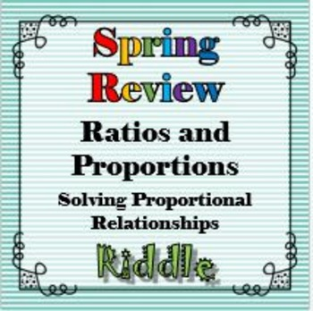 Spring Review The Proportion Equation Riddle Solving Propo