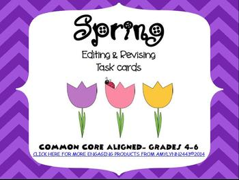 Spring Revising and Editing 28 Task Cards- Writing Test Pr