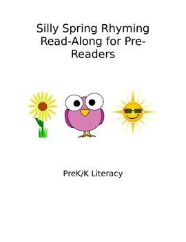 Spring Rhyming Read Along for Pre Readers - PreK Literacy