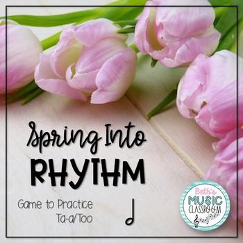 Spring Rhythm Reading Interactive Game - Ta-a/Half Note (K