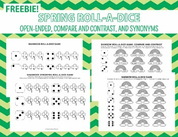 Spring Roll A Dice Freebies - Open Ended, Compare/Contrast