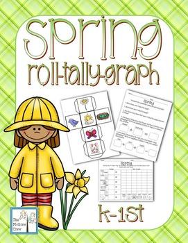 Spring Roll Tally Graph Math Center Activity Set