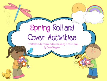 Spring Roll and Cover Math Games
