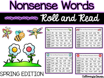 Spring Roll and Read Nonsense Words