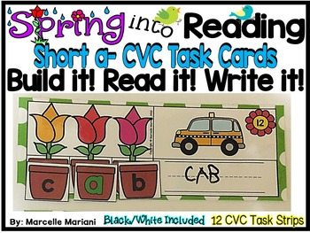 Spring-SHORT A Literacy Center- Spring into Learning-Read,