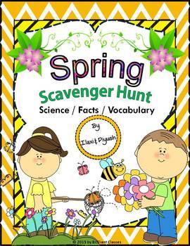 Spring Scavenger Hunt -- An Activity