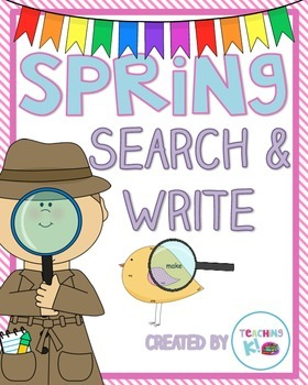 Spring Search & Write Pre-Primer Sight Word Activity for K