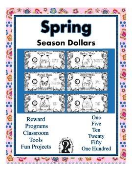 Spring Season Dollars - Teach Money, Use for Rewards, Supp