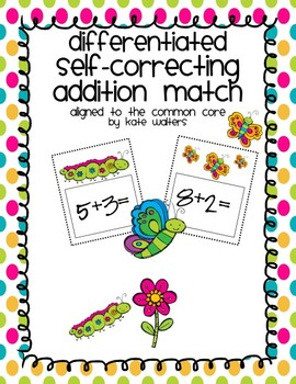 Spring Self-Correcting Addition Match {Differentiated and