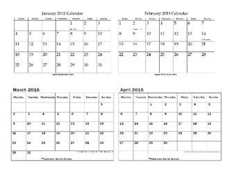 Spring Semester 2015 Calendar
