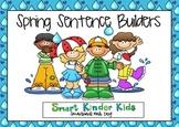 Spring Sentence Builders SMARTboard - CVC, Sight Words, Bl