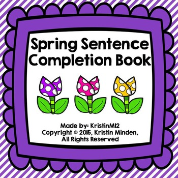 Spring Sentence Completion Book