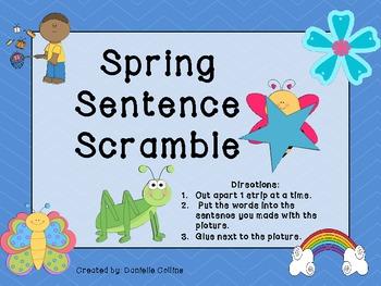 Spring Sentence Scramble