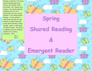 Spring Shared Reading and Emergent Reader Pack